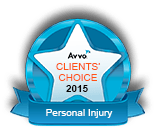 Avvo Client's Choice 2015 Personal Injury