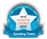 Avvo Client's Choice 2015 Speeding Ticket